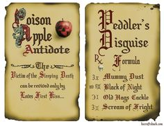 Disney inspired antitode and peddler spells two page layout