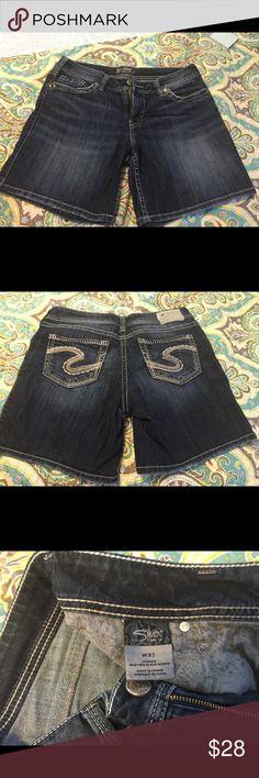 Jean shorts Ladies Silver Jean shorts. Waist 32 inseam 7. Like new. Silver Jeans Shorts Jean Shorts