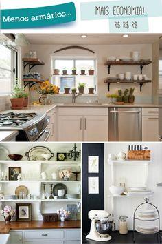 Decoração de cozinha – 07 vantagens em utilizar prateleiras