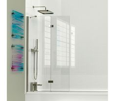 Kudos 2 Panel Framless In-Folding Bath Screen 1500 x Silver Frame With Clear Glass Bathroom Renos, Bathroom Furniture, Small Bathroom, Bathrooms, Bath Shower Screens, Shower Taps, Bathroom Inspo, Bathroom Medicine Cabinet, Clear Glass