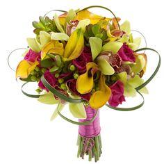 Bella Allure: A colorful selection including #Cymbidiums  #MiniCallas  #SweetheartRoses  #VenetianWeddings #Weddings #VegasWeddings #TheKnot #Bouquet