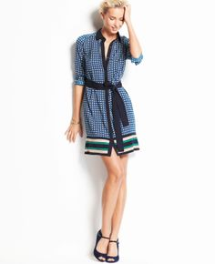 Mod Scarf Print Dress | Ann Taylor  139