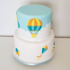 Baby Boy Birthday, Birthday Cake, Birthday Parties, Cake Designs For Kids, Cloud Party, Boy Baptism, Creative Cakes, Cake Art, Birthday Decorations