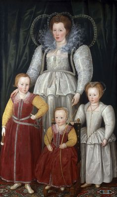 Anne, Lady Pope with her children, 1596, National Portrait Gallery, London