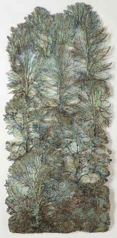 "Beautiful . . . 'Forest Scape 2'  by Lesley Richmond  Cotton/silk fabric - 69"" x 32"""