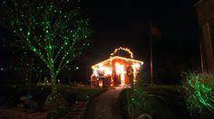 Advents-Lichterimpressionen aus unserem Garten