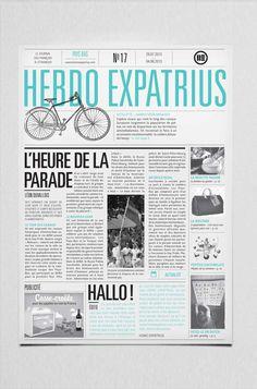 print journal magazine - newspaper - bichromy