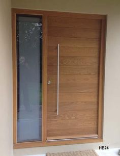 cntemporary oak door one sidelight