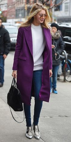 the perfect purple coat