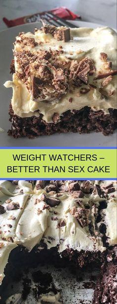 Weight Watchers' Better Than Sex Cake Ww Desserts, Healthy Desserts, Delicious Desserts, Yummy Food, Ww Recipes, Cake Recipes, Dessert Recipes, Cooking Recipes, Recipies