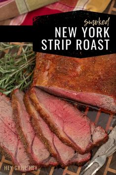 Smoked New York Strip Roast is a great roast to grace your table this holiday season. It's beefy, juicy, and real people-pleaser. If you're not a big fan of prime rib, give this New York strip roast a try instead!