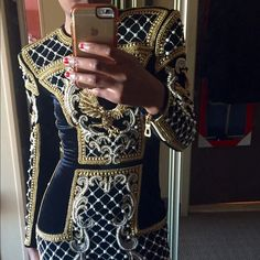Balmain x HM beaded velvet dress Classic and regal piece. Never worn, still with tags. Not in a rush to sell so price is firm. NO PAYPAL or TRADES ! Balmain Dresses Mini