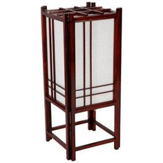 Oriental Furniture Double Cross Shoji Lamp - Rosewood - LMPDX-ROSEWOOD