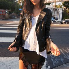 wear leather whatever the weather // shop spring looks on effinshop.com