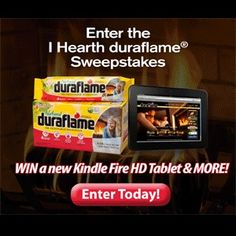 Enter the Duraflame Hearth Sweepstakes - http://getfreesampleswithoutsurveys.com/enter-the-duraflame-hearth-sweepstakes