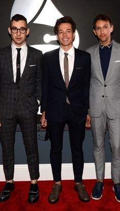 Jack Antonoff, Nate Ruess, and Andrew Dost of Fun, Grammy, ah… i love their hipster vibe