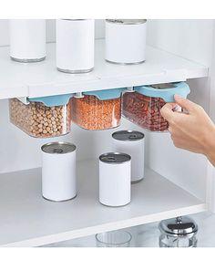 Kitchen Shelf Liner, Kitchen Cupboard Storage, Kitchen Units, Kitchen Cupboards, Storage Sets, Food Storage, Joseph Kitchen, Small Cottage Kitchen, Clear Plastic Containers