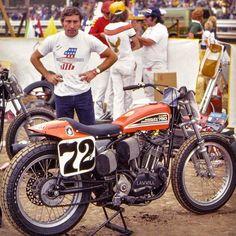 Flat Track Motorcycle, Flat Track Racing, Motorcycle Racers, Motorcycle Types, Motorcycle Garage, Triumph Motorcycles, American Motorcycles, Vintage Motorcycles, Vintage Motocross