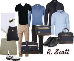 """R. Scott Men's Accessories"" by slamglam on Polyvore"