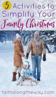Keep your family Christmas simple and sweet with these 5 simple activities. Stay focused on the true reason for the season and on staying connected at the heart.