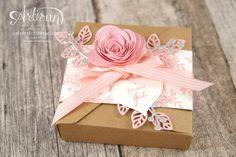 Stampin´ Up! - Minialbum - Leporello - Envelope Punch Board - Spiralblume - Blütenpoesie - 1
