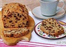 Plum cake de mezcla de pasas al té. Receta