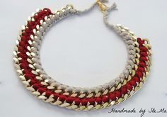 Ste.Ma handmade creations: Handmade double chain necklaces | New colours!!!