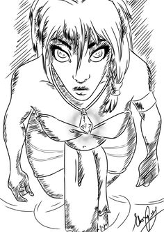 Kida Sketch for Hooda by Ebsie.deviantart.com on @deviantART