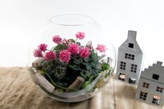 A simple arrangement with the wow factor due to the Cyclamen Masako