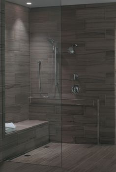 Universal Design Shower from Builder Fish. Prepare to age in place when building your custom home!