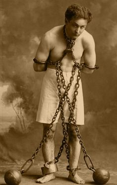 Harry Houdini by peterpulp on DeviantArt Old Pictures, Old Photos, Vintage Photos, Paranormal, Horror, Circus Performers, Wax Museum, Margaret Atwood, Photo B