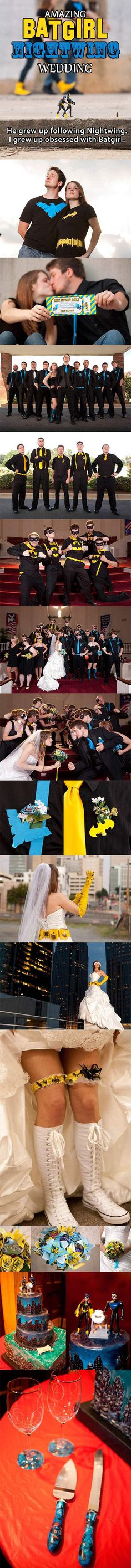 Superhero Wedding...not.really into.super heroes but this.is.too.cool not to pin!