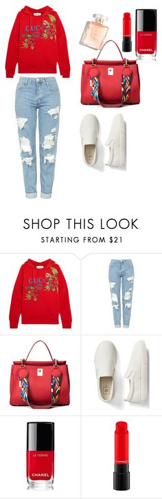"""simple,but nice"" by hanija21 ❤ liked on Polyvore featuring Gucci, Topshop, Gap and Chanel"