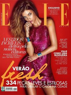 Supermodel Barbara Palvin takes cover story of Elle Brazil's January 2015 issue lensed by fashion photographer Gui Paganini with styling by Susana Barbosa. Barbara Palvin, V Magazine, Magazine Covers, Magazine Wall, Img Models, Marie Claire, Vanity Fair, Cosmopolitan, Victoria's Secret
