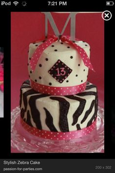 I want this cake it's so cute