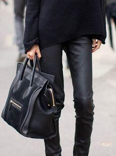 black leather & Céline- classic
