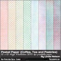 Free polka dot digital scrapbook paper in Watercolor Hues
