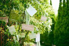 結婚式場写真「ウェルカムツリーにメッセージを飾って、おふたりらしくゲストをお出迎え」 【みんなのウェディング】