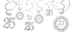25th Anniversary Swirl Decorations - Party City