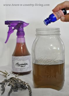 How to Make Lavender Linen Spray--a must have!  It has been proven to relax you right into dreamland