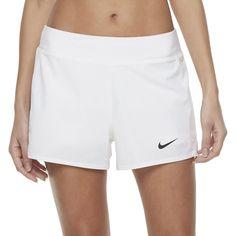 Women's Nike Court Flex Pure Tennis Shorts, Size: Large, White
