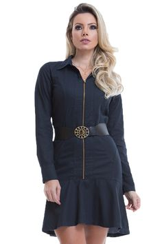 Vestido Detalhe Zíper Via Tolentino