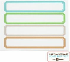 Martha Stewart labels at Staples. OMG. They are AWEsome! I want one of every color!