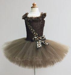 WOOKIE HALLOWEEN COSTUME Tutu Dress Girls by wingsnthings13