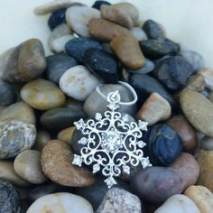 Snowflake Necklace Icy Frozen Crystal Snow Flake Once Upon a