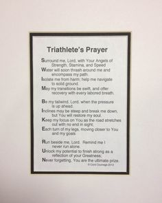 The Triathlete's Prayer - Great gift for Triathletes available on Etsy with FREE Shipping!!!