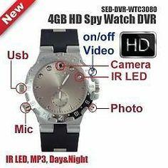 4GB HD SPY WATCH CAMERA WITH DVR
