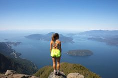 I've never really been scared of heights. So standing on the edge there didn't make me nervous at all. What made me extremely nervous was the couple guys in the back telling me how scared they were just looking at me stand there. Places To Travel, Travel Destinations, Canada Travel, Canada Trip, British Columbia, Columbia Travel, Small Lake, Travel Articles, Day Hike