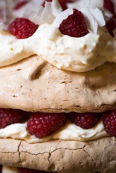 White Chocolate, Coconut and Raspberry Pavlova – Australia Day 2017 Raspberry Pavlova, Australia Day, White Chocolate, Nom Nom, Coconut, Amp, Baking, Food, Bakken