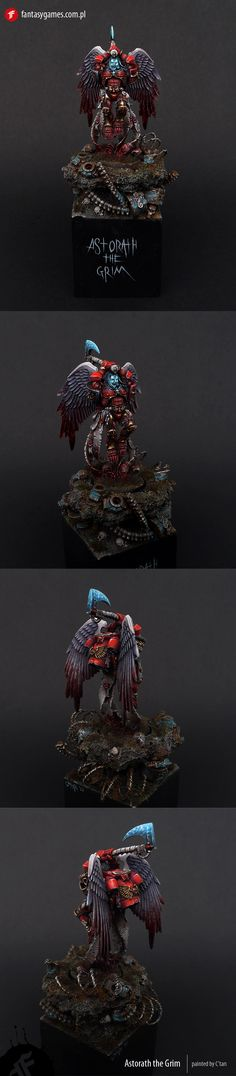 40k - Astorath The Grim of the Blood Angels by C'Tan via coolminiornot.com